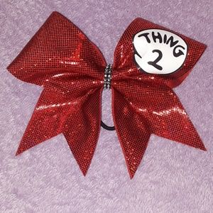 "Red ""Thing 2"" Cheer Bow"